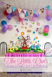 The Little Owls Themed Party for 1st Birthday
