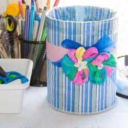 DIY Decorative Trash Bin out of a Tin Can