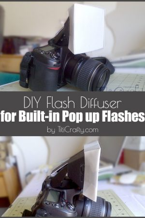 DIY Flash Diffuser for Built-in Pup up Flashes