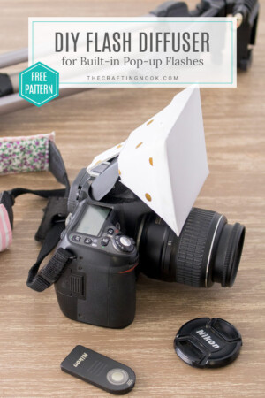 DIY Flash Diffuser for DSLR Built-in Pop-up Flashes