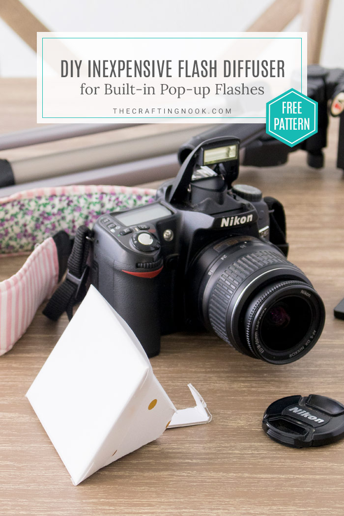 DIY Flash Diffuser for DSLR Built-in pop-up flash