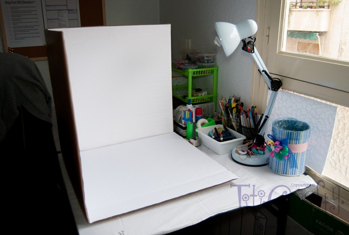 DIY: Foto estudio hecho en casa. Homemade photostudio.