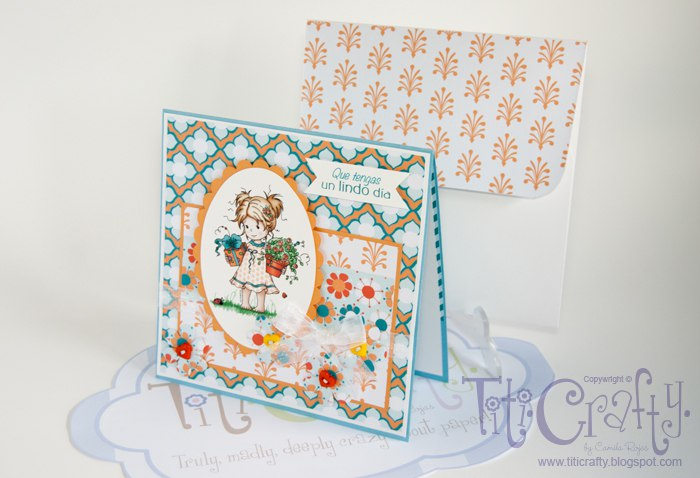 Sweet Tangerine Handmade Card Set Nº 1.