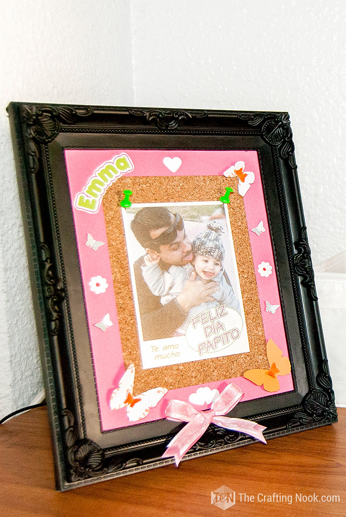Cork Photo Frame for Father's Day