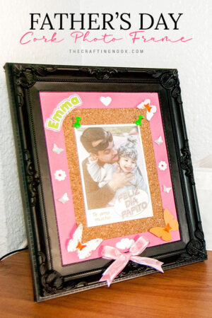 Father's Day Cork Photo Frame