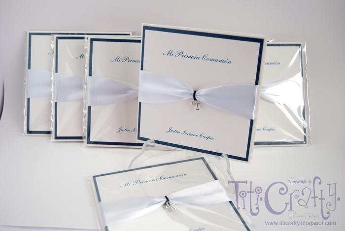 "Mi ""primera"" Primera Communion Handmade Cards :D"