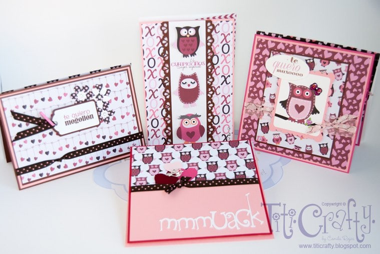 Romantic Owl Vein in the Air! Handmade Cards.