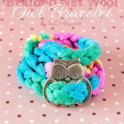 DIY Braided Net Wool Owl Bracelet Tutorial