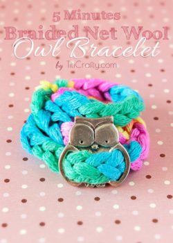 DIY. 5 Minutes Braided Net Wool Owl Bracelet