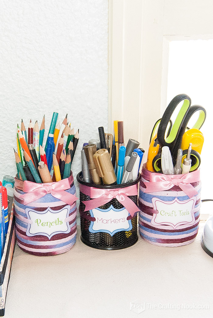 Decorative Pencil Holder from Upcycled Jars 3 together
