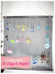 Craft from the Past. Earrings Holder, SO EASY and SO USEFUL!!! #jewelryorganizer #jewelryholder #earringsholder