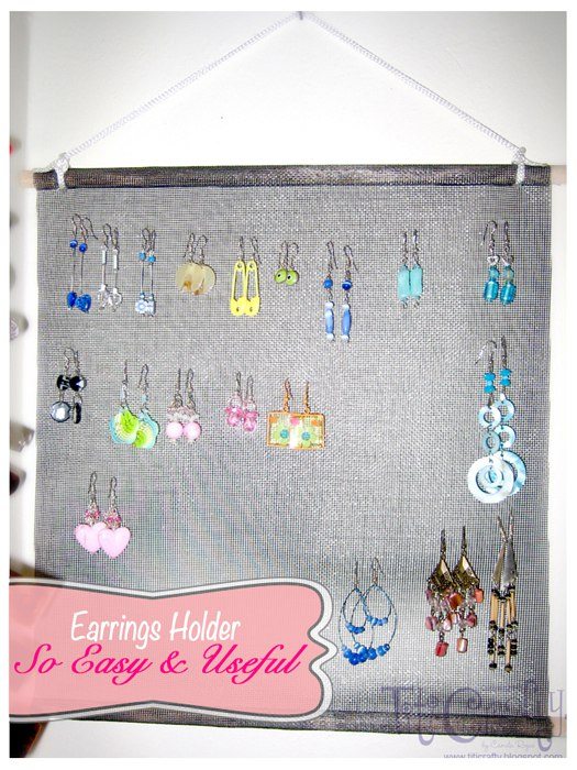 Craft from the Past.  Earrings Holder, SO EASY and SO USEFUL!!!