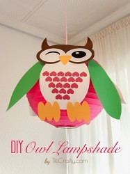 DIY Owl Lampshade Decoration Tutorial #lampshadeidea #lampshadedecoration #owllampshade