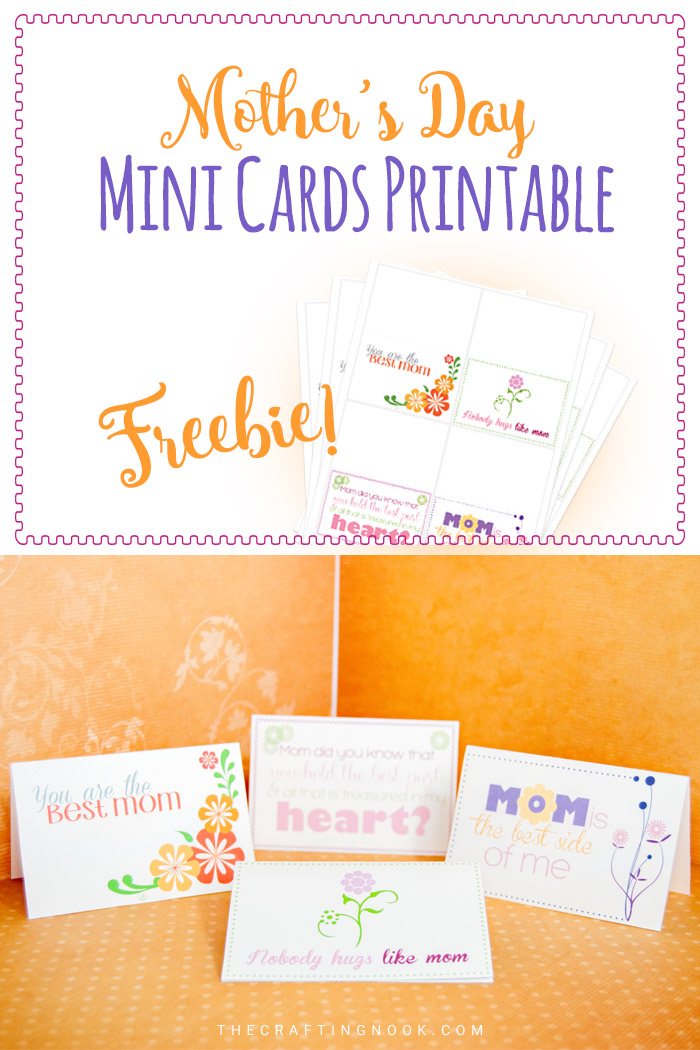 Download, print, Cute and give away these Mother's Day Mini Cards Printable Freebie!