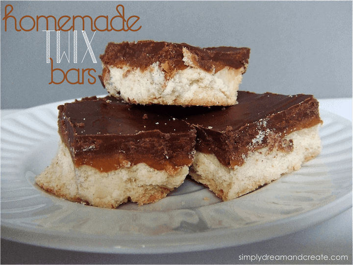Homemade Twix Bars #twixbars #homemadetwix