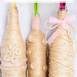 DIY Twine Wrapped Decorative Vases