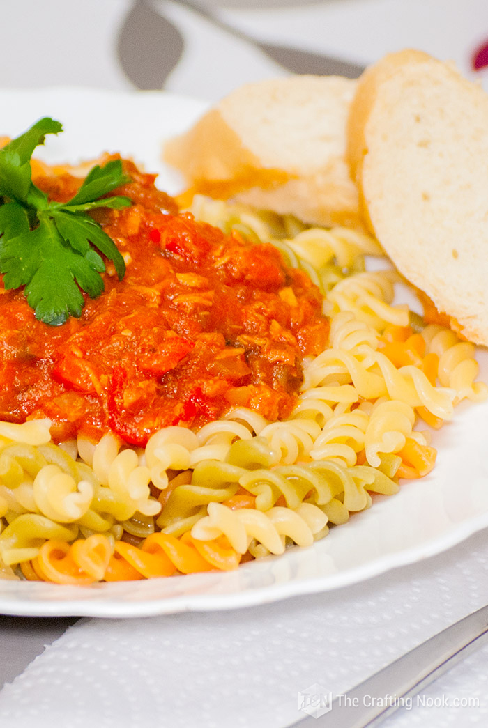 Fusilli Tuna Pasta Sauce easy Recipe