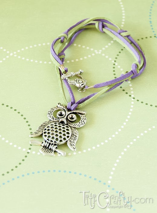 How to make a Leather cord and knots Owl Necklace