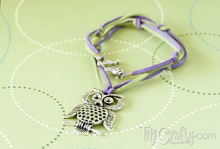 Easy and Cute Leather cord and knots Owl Necklace
