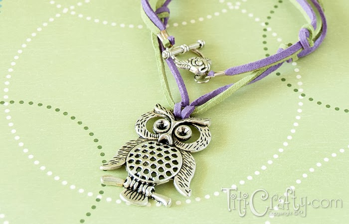 DIY Easy Leather cord and knots Owl Necklace