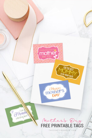 Adorable FREE Mother's Day Printable Tags