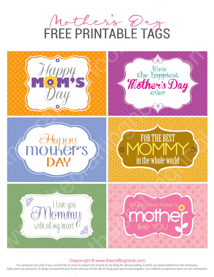Download FREE Mother's Day Printable Tags