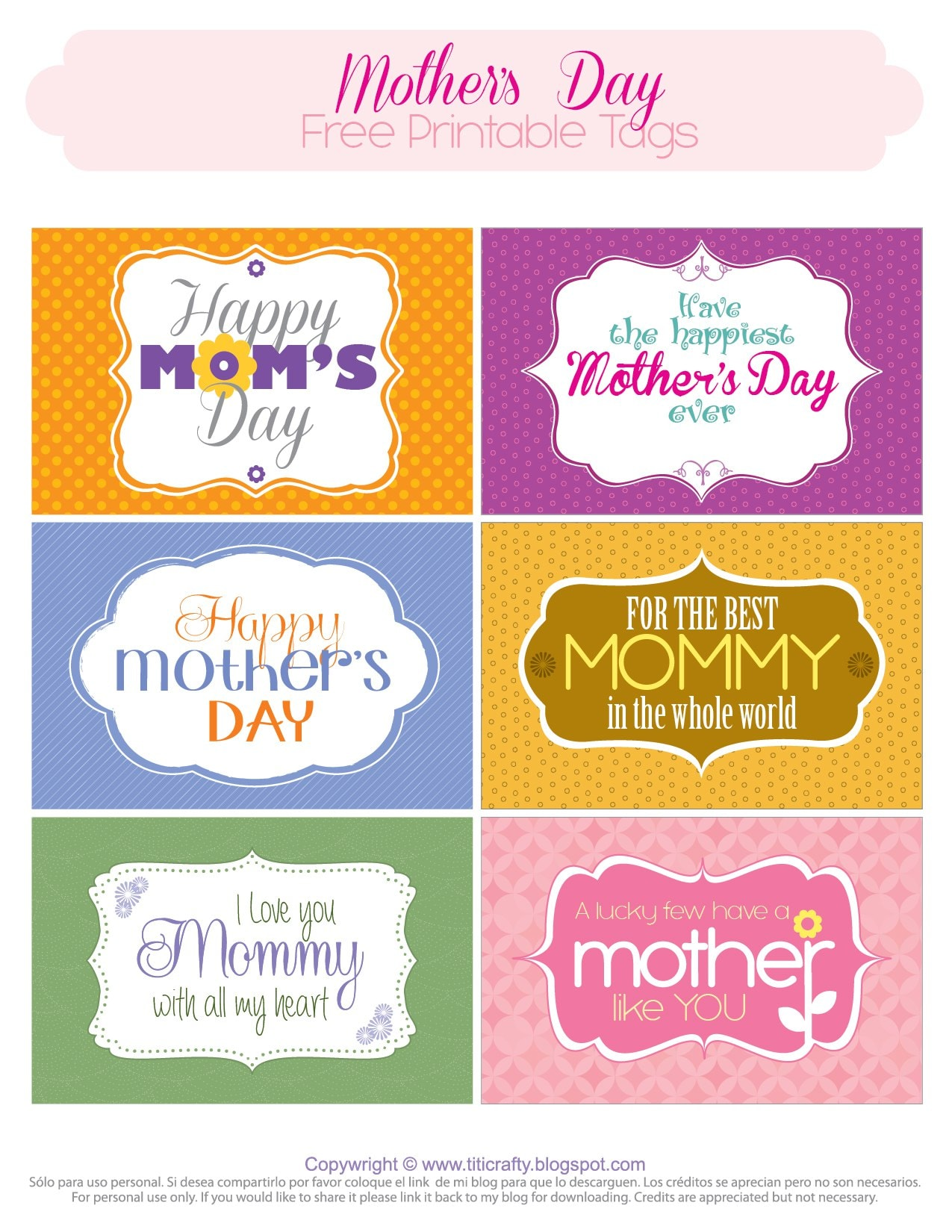 giving some love mother 39 s day printable tags the crafting nook by titicrafty. Black Bedroom Furniture Sets. Home Design Ideas