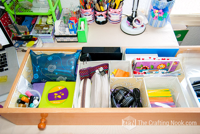 Upcycled Box Drawer Organizers Easy Way