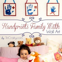 DIY Handprints Family Math Wall Art Tutorial