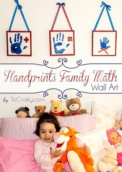 DIY Handprints Family Math Wall Art Tutorial