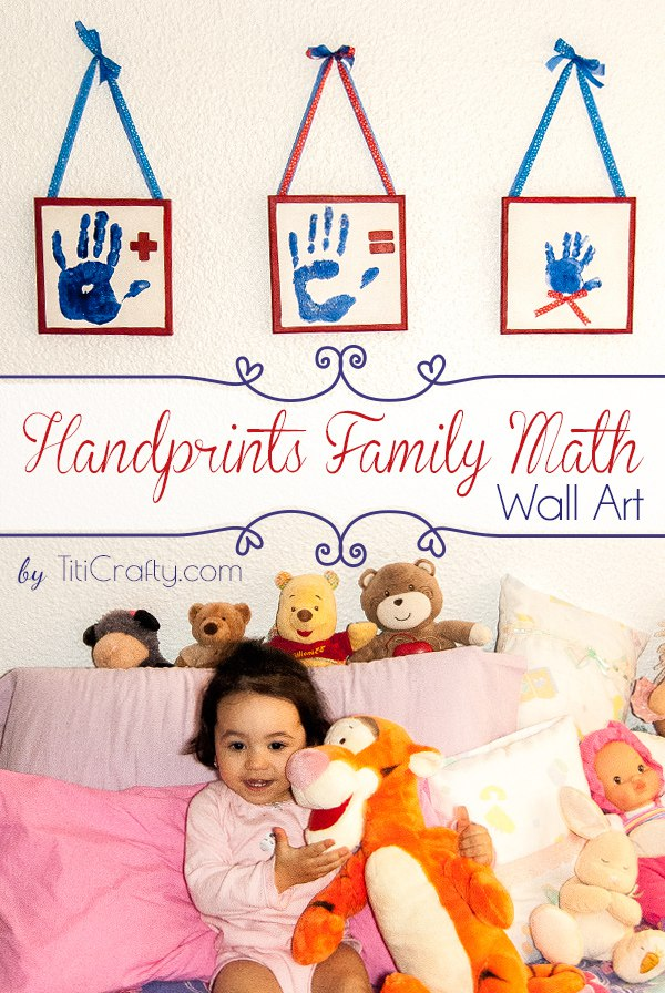 Talk About Adorable! Handprint Family Math Wall Art Inspiration for Your Littles One's Room