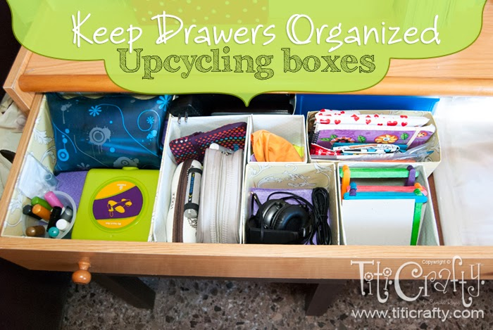 Keep Drawers Organized Upcycling Boxes Tutorial