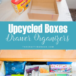 Upcycled Box Drawer Organizers