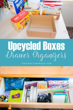 Upcycled Box Drawer Organizers