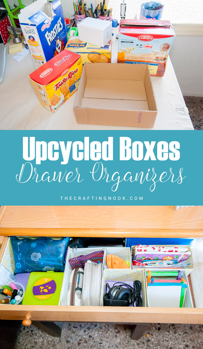 Learn how to Upcycle Boxes for Drawer Organizers