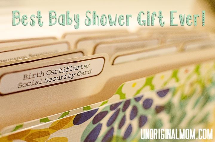 Guest post 16 diy baby shower gift ideas by lauren of the thinking baby document filing system unoriginal momcaption and there you have it 16 creative ideas for baby shower gifts that you can make yourself solutioingenieria Gallery