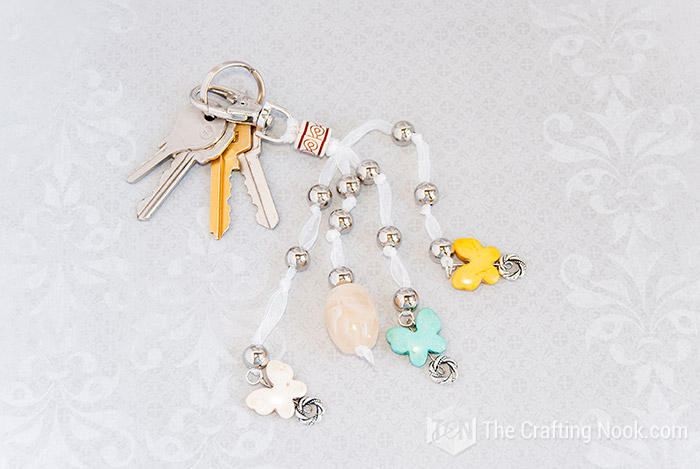 Easy and fun DIY Keychain with Beads and Butterflies