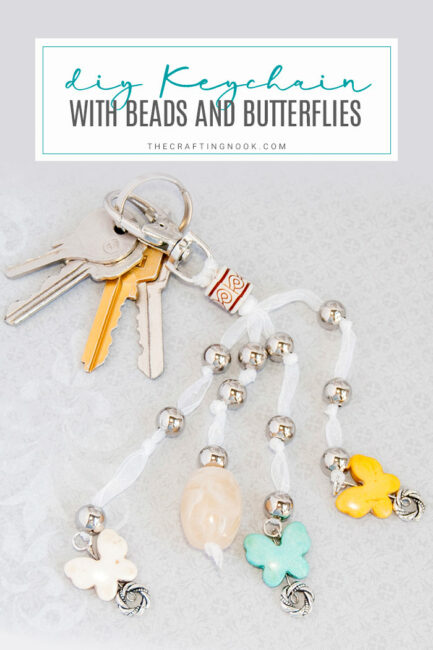 DIY Keychain Beads and Butterflies