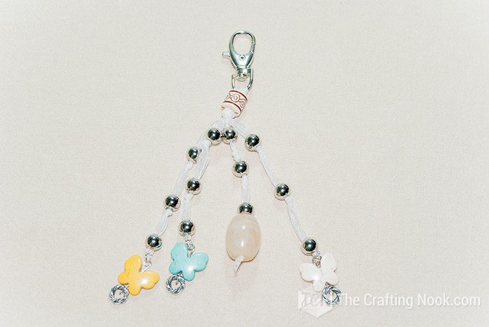 Quick and Easy DIY Keychain with Beads andButterflies