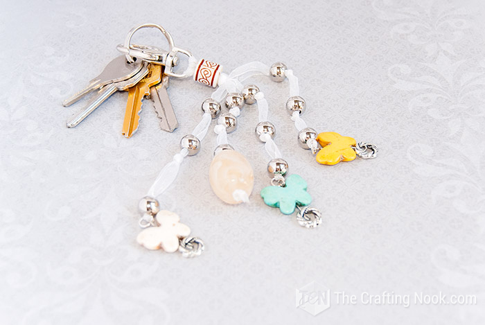 Easy DIY Keychain with Beads andButterflies