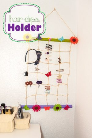 DIY Hair Clips Holder