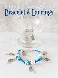 Home-Sweet-Home-Earrings-and-Bracelet-DIY-Tutorial