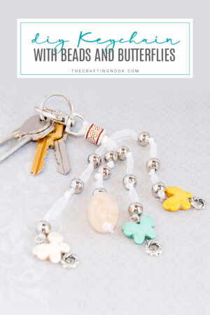 How to make a Keychain with Beads and Butterflies