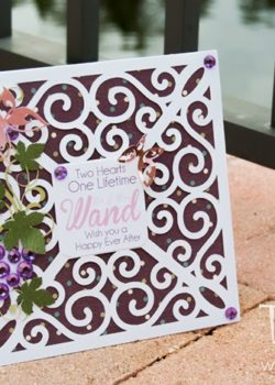 Wine Fields of Romance Wedding Card
