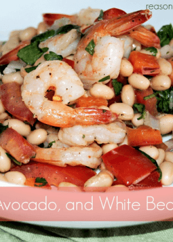{Guest Post} Shrimp, Avocado and White Bean Salad by Melanie from Reasons to Skip the Housework!