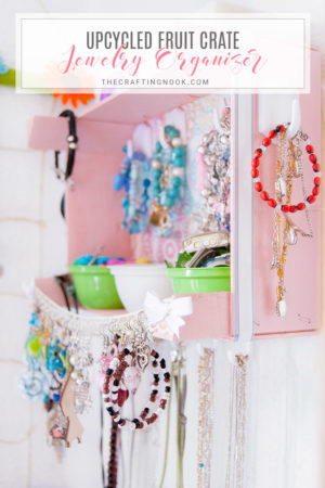 Upcycled Fruit Crate Jewelry Organizer