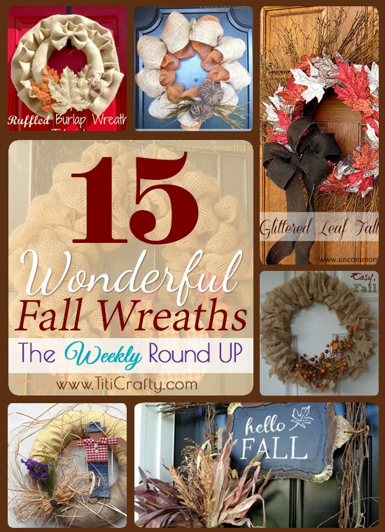 15 Wonderful Fall Wreaths. The Weekly Round Up Series.