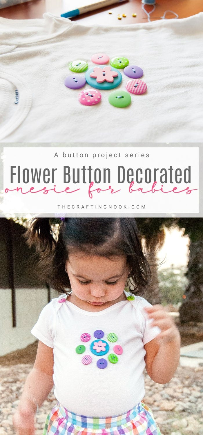 Floral Button Decorated Onesie for Babies Tutorial