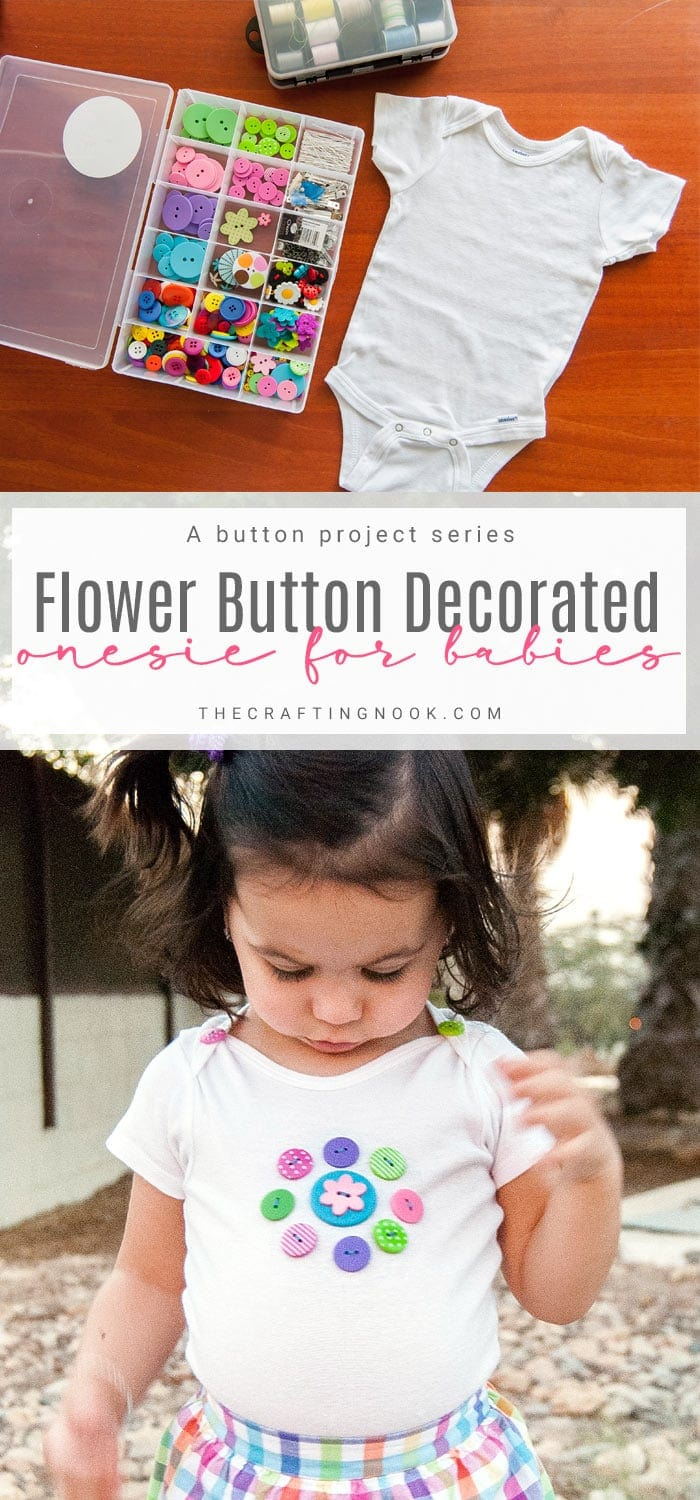 Floral Button Decorated Onesie for Babies