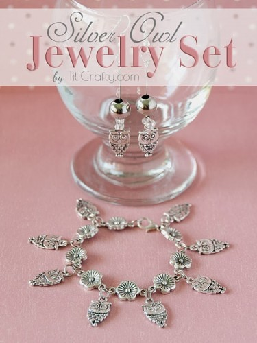 DIY-Silver-Owl-Jewelry-Set-Tutorial